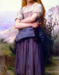 Bouguereau, William(France): The Knitter