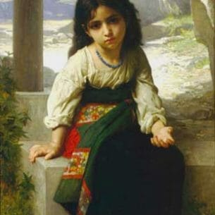 Bouguereau, William(France): The little beggar Oil Painting Reproductions