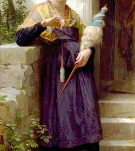 Bouguereau, William(France): The Spinner Oil Painting Reproductions