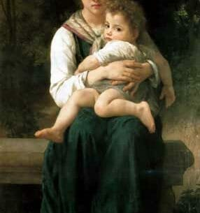 Bouguereau, William(France): The Two Sisters Oil Painting Reproductions