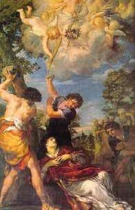 Cortona, Pietro da: The Stoning of St. Stephen Oil Painting Reproductions