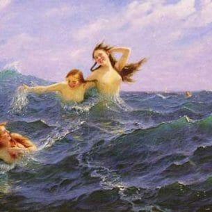 Dahl, Hans(Norway): The Daughters Ran Oil Painting Reproductions