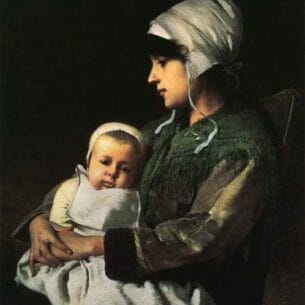 Charles Sprague Pearce – Mother and Child