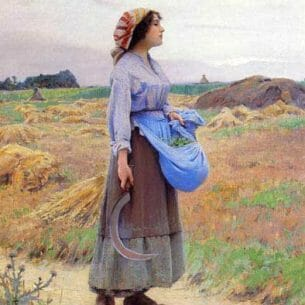 Charles Sprague Pearce – Returning from the Fields Oil Painting Reproductions