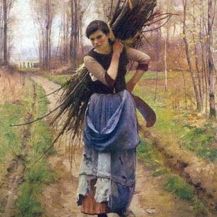 Charles Sprague Pearce -The Woodcutter's Daughter Oil Painting Reproductions
