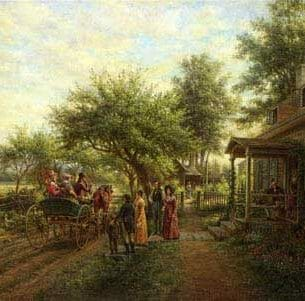 Edward Lamson Henry – News of the War of 1812 Oil Painting Reproductions