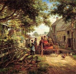 Edward Lamson Henry – The Conversation Oil Painting Reproductions