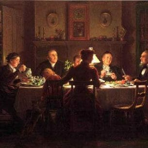 Edward Lamson Henry – Village Squire Entertaining the New Minister Oil Painting Reproductions