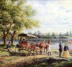 Edward Lamson Henry – Waiting for the Ferry Oil Painting Reproductions