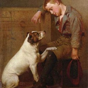 Brown, John George – Best Friends Oil Painting Reproductions
