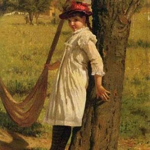 Brown, John George – Give Me a Swing Oil Painting Reproductions