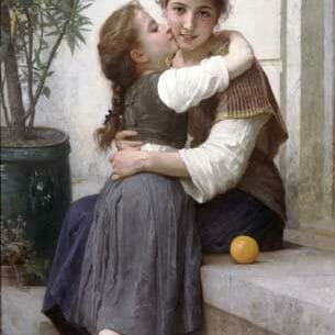 Bouguereau, William – A Little Coaxing Oil Painting Reproductions