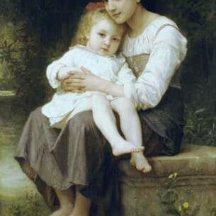Bouguereau, William – Big Sister Oil Painting Reproductions