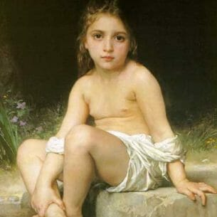 Bouguereau, William – Child at Bath Oil Painting Reproductions