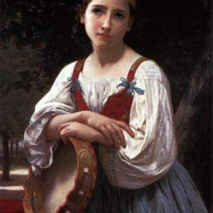 Bouguereau, William – Gypsy Girl with a Basque Drum Oil Painting Reproductions