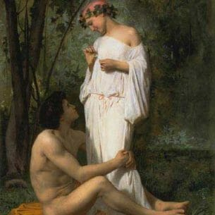 Bouguereau, William – Idylle Oil Painting Reproductions