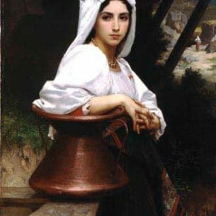 Bouguereau, William – Italian Girl Drawing Water Oil Painting Reproductions