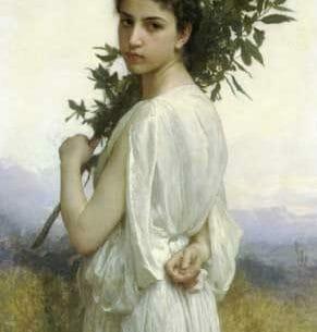 Bouguereau, William – Laurel Branch Oil Painting Reproductions