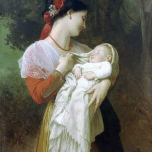 Bouguereau, William – Maternal Admiration Oil Painting Reproductions