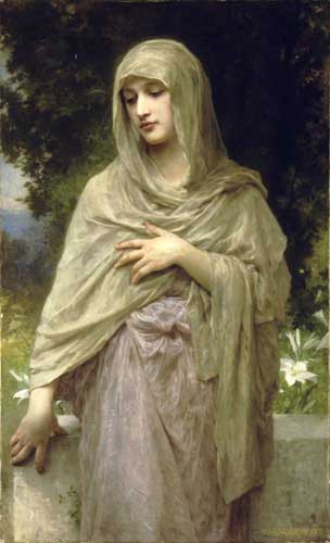 Bouguereau, William – Modesty Oil Painting Reproductions