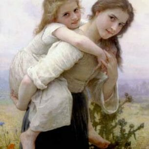 Bouguereau, William – Not Too Much To Carry Oil Painting Reproductions