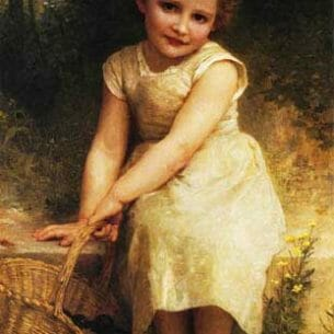 Bouguereau, William – Plums (also known as Les Prunes) Oil Painting Reproductions