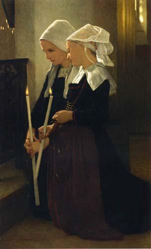 Bouguereau, William – Prayer at Sainte-Anne-d'Auray Oil Painting Reproductions