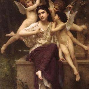 Bouguereau, William – Reve de printemps Oil Painting Reproductions
