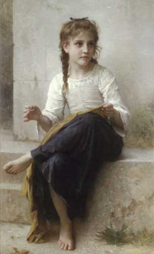 Bouguereau, William – Sewing Oil Painting Reproductions