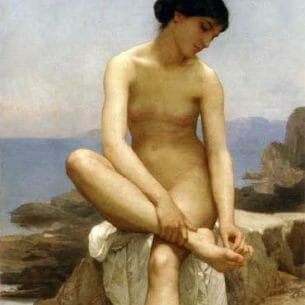 Bouguereau, William – The Bather Oil Painting Reproductions