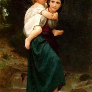 Bouguereau, William – The Crossing of the Ford Oil Painting Reproductions