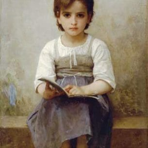 Bouguereau, William – The Difficult Lesson Oil Painting Reproductions