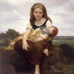 Bouguereau, William – The Elder Sister Oil Painting Reproductions