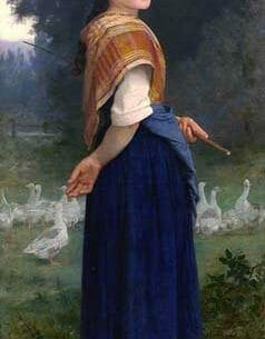 Bouguereau, William – The Goose Girl Oil Painting Reproductions