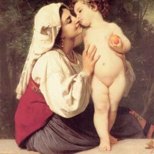 Bouguereau, William – The Kiss Oil Painting Reproductions