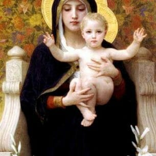 Bouguereau, William – The Virgin of the Lilies Oil Painting Reproductions