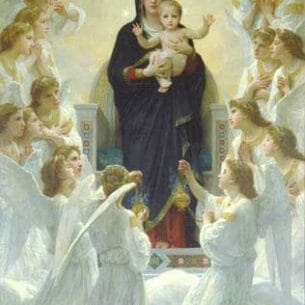 Bouguereau, William – The Virgin With Angels Oil Painting Reproductions