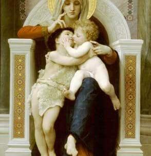 Bouguereau, William – The Virgin, Jesus & Saint John Baptist Oil Painting Reproductions