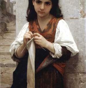 Bouguereau, William – Tricoteuse Oil Painting Reproductions