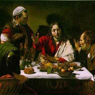 Caravaggio, Michelangelo Merisi da: Supper at Emmaus Oil Painting Reproductions
