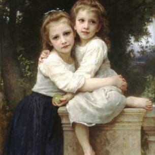 Bouguereau, William – Two Sisters Oil Painting Reproductions