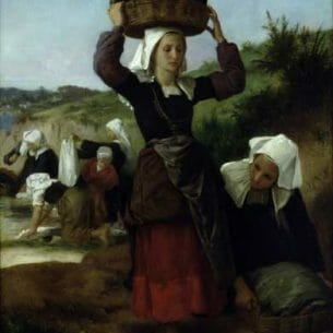 Bouguereau, William – Washerwomen of Fouesnant Oil Painting Reproductions