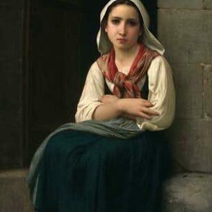 Bouguereau, William – Yvonnette Oil Painting Reproductions
