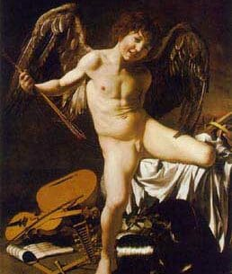 Caravaggio, Michelangelo Merisi da: Amor Victorious Oil Painting Reproductions