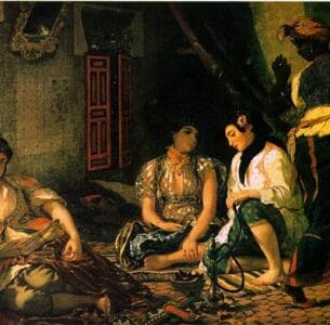 Delacroix, Eugene: Algerian Women in Their Apartments Oil Painting Reproductions