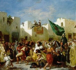 Delacroix, Eugene: The Fanatics of Tangier Oil Painting Reproductions