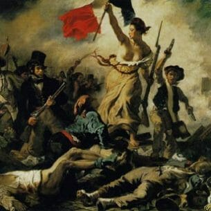 Delacroix, Eugene: Liberty Leading the People Oil Painting Reproductions