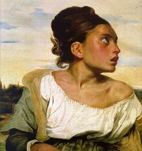 Delacroix, Eugene: Orphan Girl at the Cemetery Oil Painting Reproductions