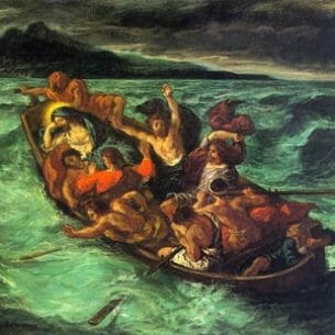Delacroix, Eugene: After the Shipwreck Oil Painting Reproductions