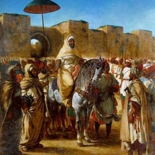 Delacroix, Eugene: The Sultan of Morocco and His Entourage Oil Painting Reproductions